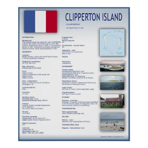 Clipperton Island Print