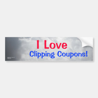 Clipping Coupons bumper sticker