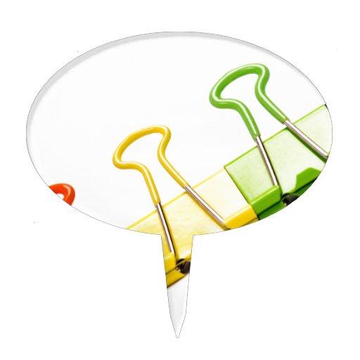 clips coloridos de la diversión figura para tarta