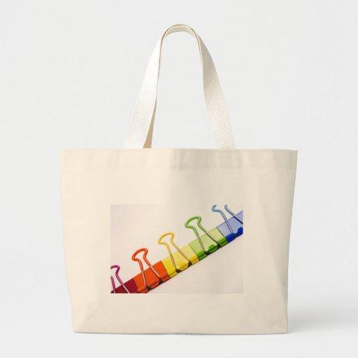 clips coloridos de la diversión bolsas de mano