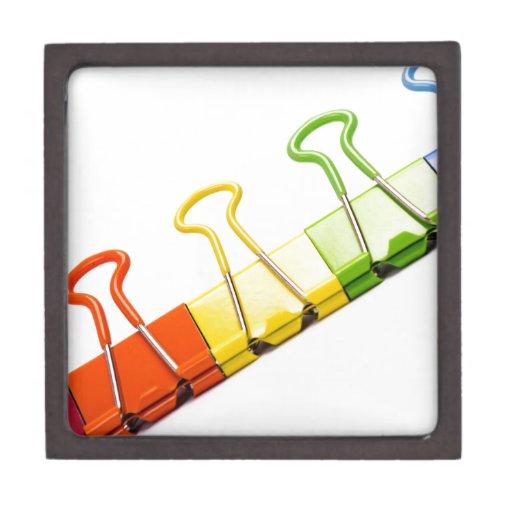 clips coloridos de la diversión caja de regalo de calidad