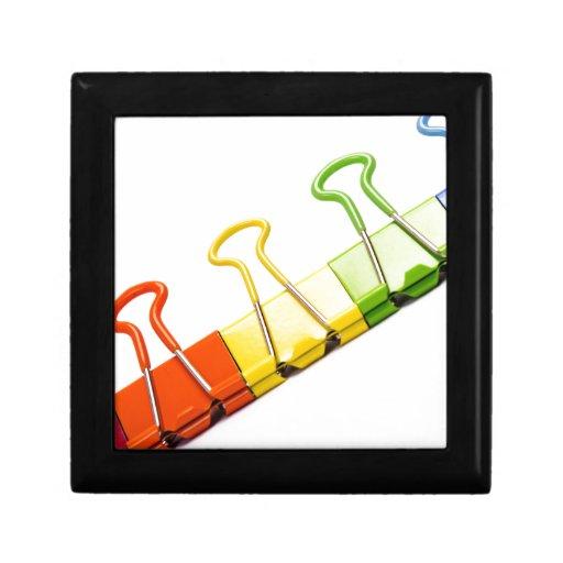 clips coloridos de la diversión caja de joyas