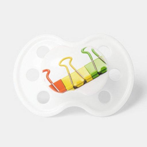 clips coloridos de la diversión chupete