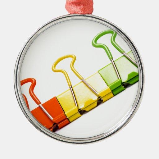 clips coloridos de la diversión ornamento de navidad