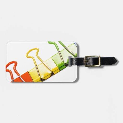 clips coloridos de la diversión etiquetas bolsa