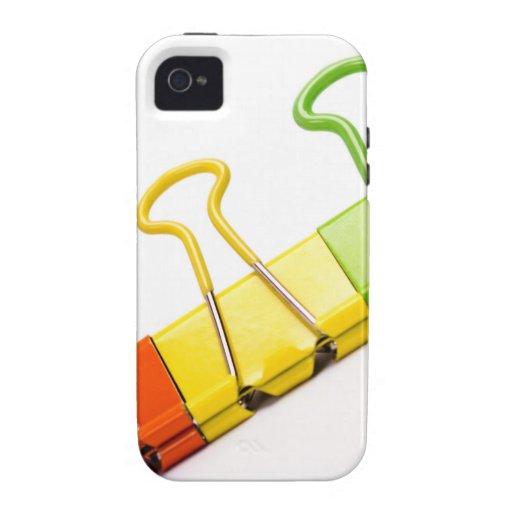 clips coloridos de la diversión iPhone 4 carcasa