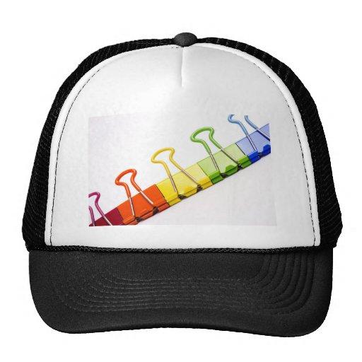 clips coloridos de la diversión gorras