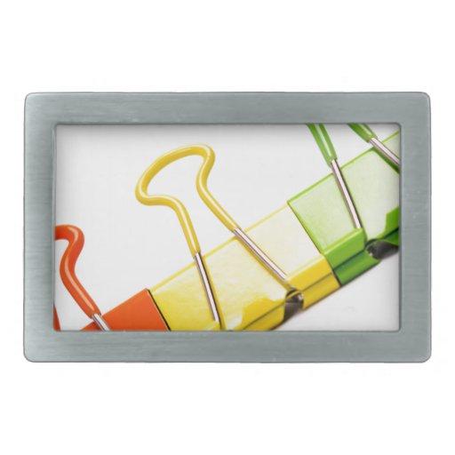 clips coloridos de la diversión hebillas cinturón rectangulares