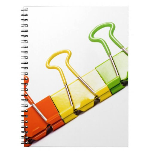 clips coloridos de la diversión libros de apuntes