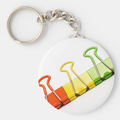 clips coloridos de la diversión llavero personalizado