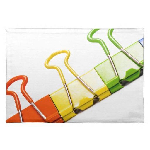 clips coloridos de la diversión mantel individual