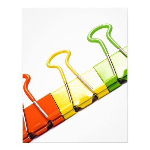 clips coloridos de la diversión membretes personalizados