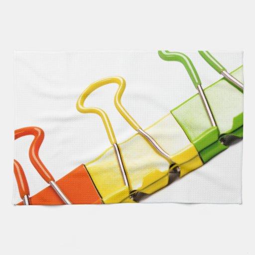clips coloridos de la diversión toallas