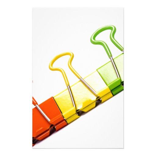 clips coloridos de la diversión papeleria de diseño