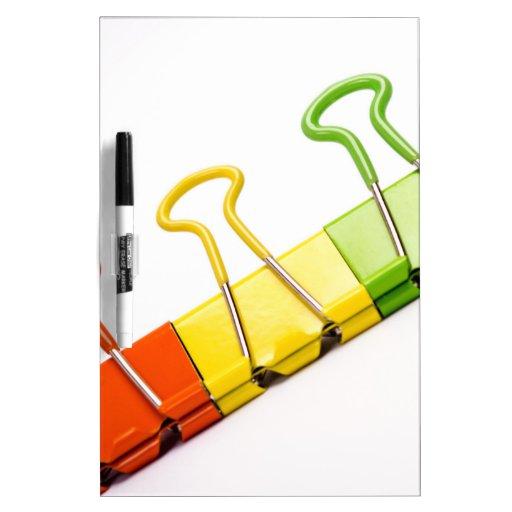 clips coloridos de la diversión pizarras blancas de calidad
