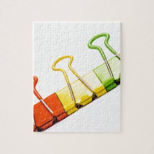 clips coloridos de la diversión puzzle con fotos