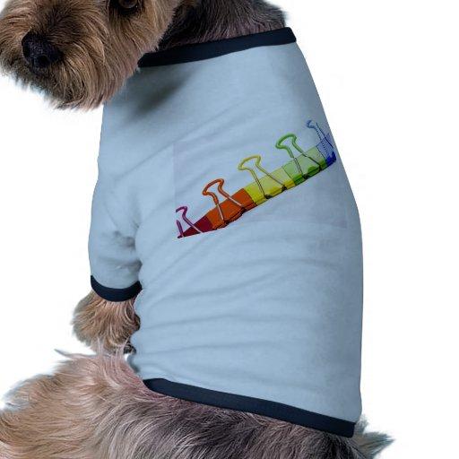 clips coloridos de la diversión camisetas mascota