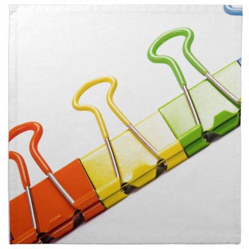 clips coloridos de la diversión servilleta de papel