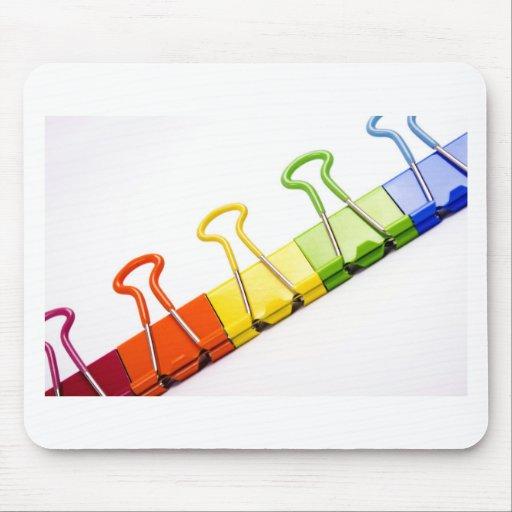 clips coloridos de la diversión alfombrillas de ratones