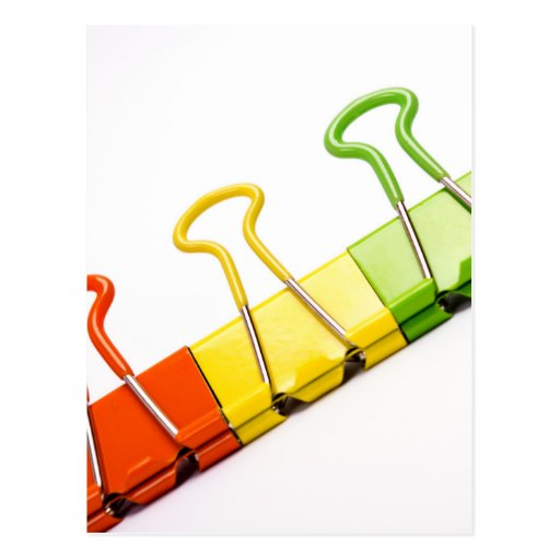 clips coloridos de la diversión postales