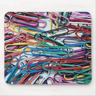 Clips de papel coloreados hermosos tapetes de ratones