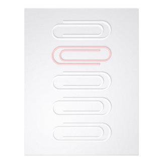 Clips de papel membrete a diseño