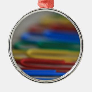 Clips del arco iris ornamento para arbol de navidad