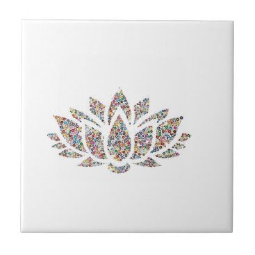 merydesigns Clittered Bright Flower Tile