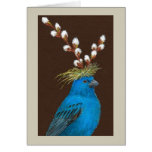 Clive the indigo bunting card