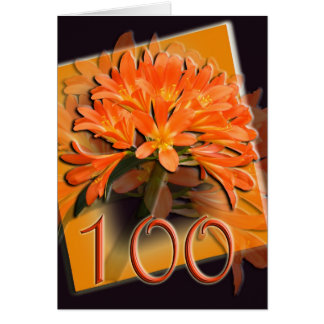 Clivea Happy 100th Birthday Greeting Card