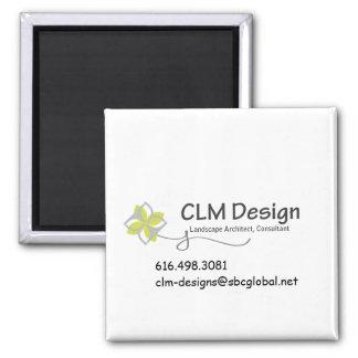CLM Design gear 2 Inch Square Magnet