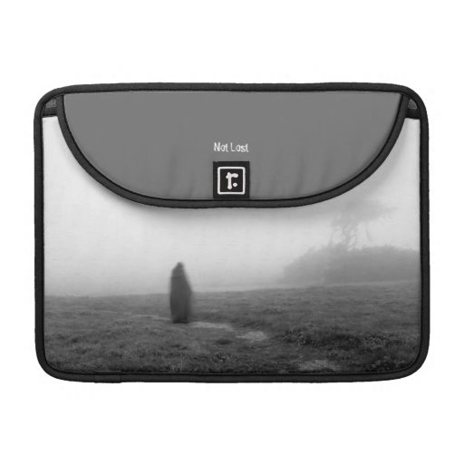 Cloaked Wanderer - Not Lost - Mac Grey Flap Sleeve Sleeves For MacBook Pro