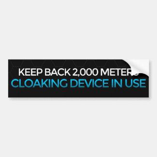 Cloaking Device In Use bumper sticker Car Bumper Sticker
