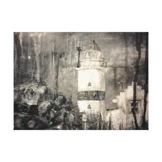 Cloch Lighthouse Stretched Canvas Print