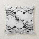 Clock abstract troll pillow design