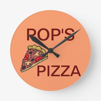 Clock Add You Logo And Text Here by CREATIVEforBUSINESS at Zazzle