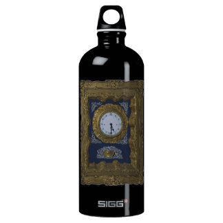 clock aluminum water bottle