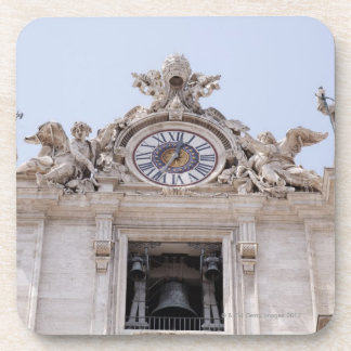 Clock and Bell, Vatican City, Rome, Italy Beverage Coaster