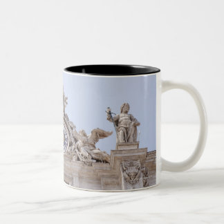 Clock and Bell, Vatican City, Rome, Italy Two-Tone Coffee Mug
