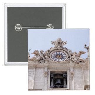 Clock and Bell, Vatican City, Rome, Italy Pinback Button