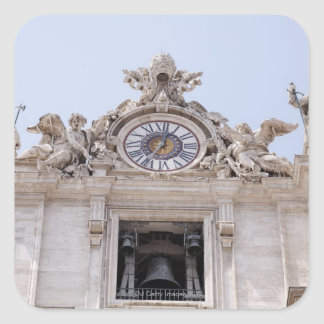 Clock and Bell, Vatican City, Rome, Italy Square Sticker