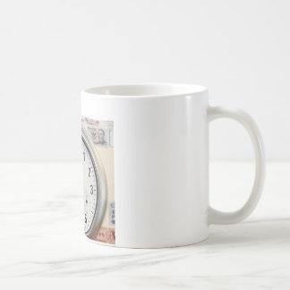Clock and Currency Classic White Coffee Mug