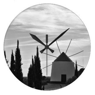 Clock: Antique windmill Large Clock