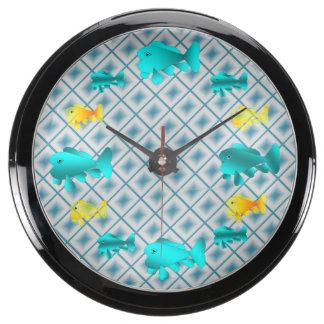 CLOCK.AQUA.150622.3 FISH TANK CLOCK