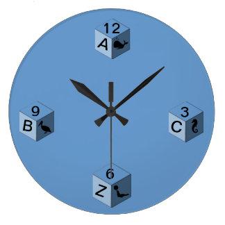 Clock - Baby Blocks - 3 sides