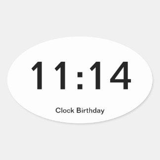 Clock Birthday Sticker 11:14