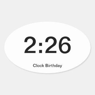 Clock Birthday Sticker 2:26