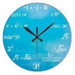 Clock - Blue Maths Wall Clock at Zazzle