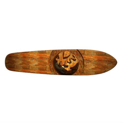 clock board skateboard