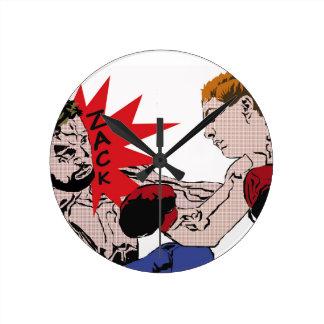 Clock - boxing match illustrates in raster